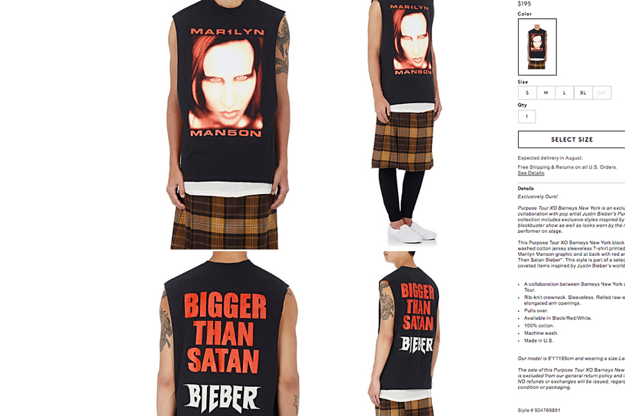 Das Bieber-Manson-Shirt.