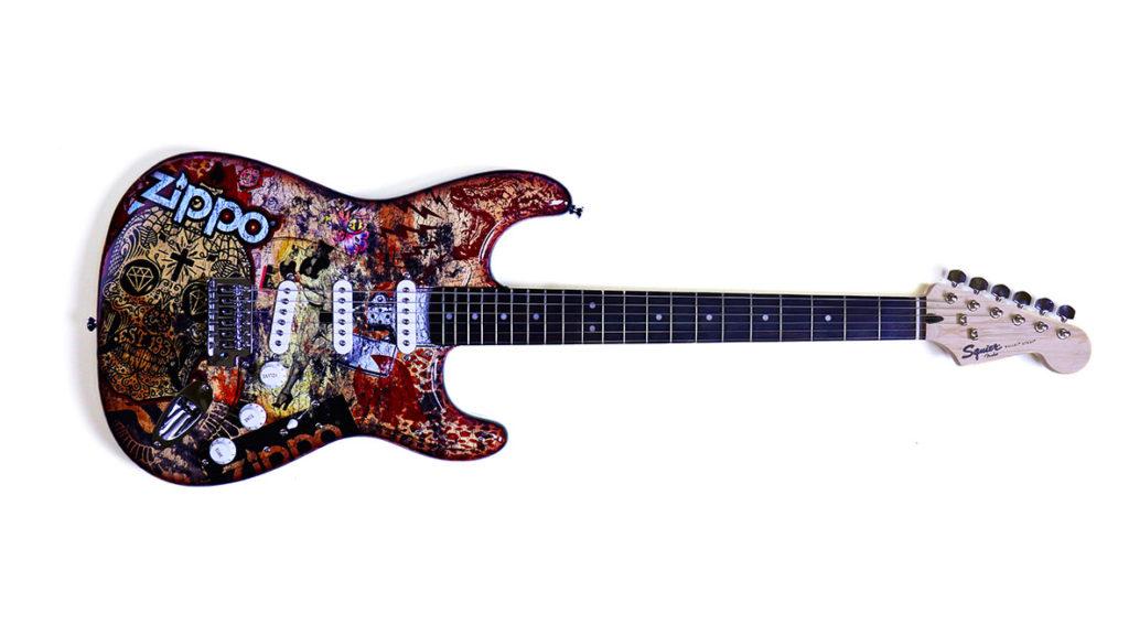 Wir verlosen eine limitierte Fender-Gitarre im Zippo-Design.