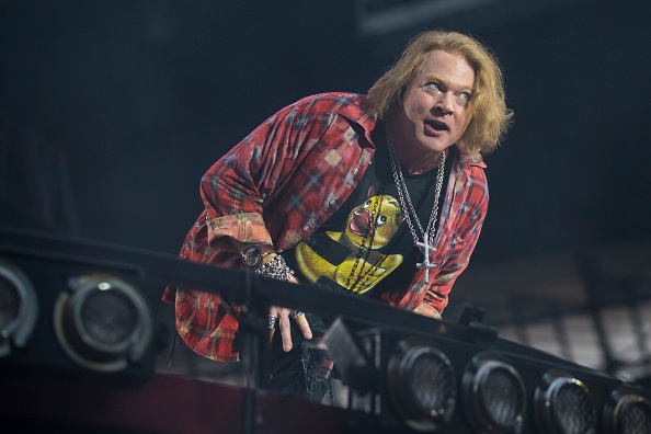 MANCHESTER, ENGLAND - JUNE 09: Axl Rose performs with AC/DC at the Etihad Stadium on June 9, 2016 in Manchester, England. (Ph