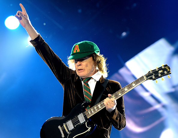 MANCHESTER, ENGLAND - JUNE 09:  Angus Young of AC/DC performs at Etihad Stadium on June 9, 2016 in Manchester, England.  (Pho