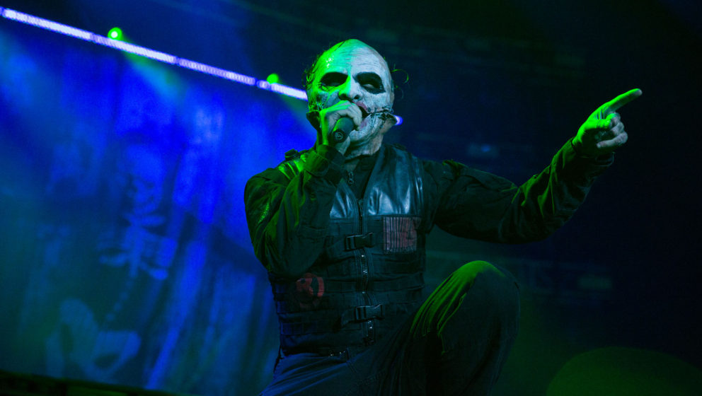 Corey Taylor bei einem Live-Auftritt mit Slipknot in Moskau.