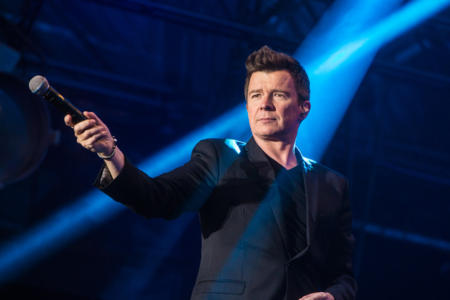 PERTH, SCOTLAND - JULY 23:  Rick Astley performs on day two of Rewind Scotland at Scone Palace on July 23, 2016 in Perth, Sco