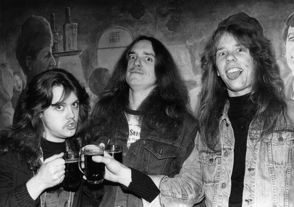 UNSPECIFIED - FEBRUARY 11:  Photo of James HETFIELD and METALLICA and Lars ULRICH and Cliff BURTON; L-R: Lars Ulrich, Cliff B
