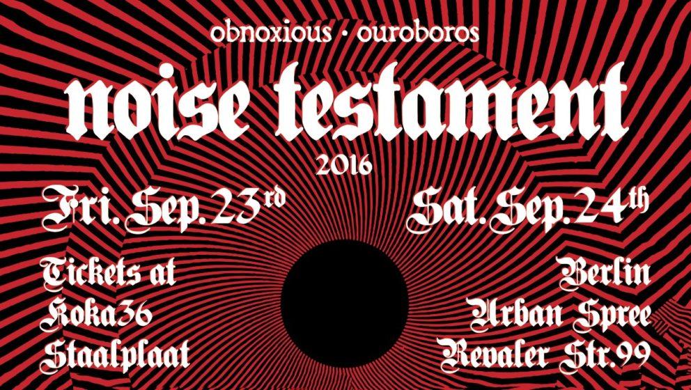"""Im Berliner Club Urban Spree geht vom 23. Bis 24. September 2016 ein neues Festival an den Start. """"Noise Testament"""" macht seinem Namen alle Ehre!"""