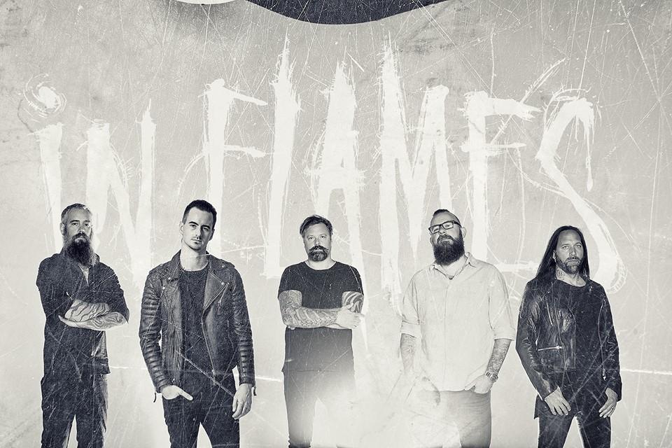 In Flames mit ihrem neuen festen Schlagzeuger Joe Rickard.