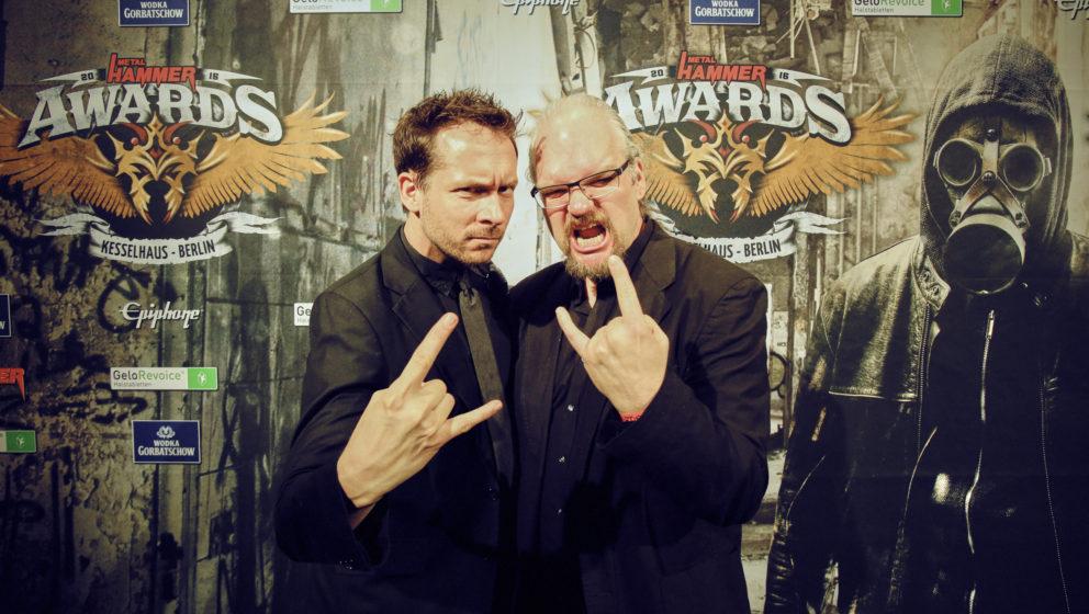 Gernot Krebs + Thorsten Zahn (METAL HAMMER Hosts) @ METAL HAMMER AWARDS Black Carpet 2016