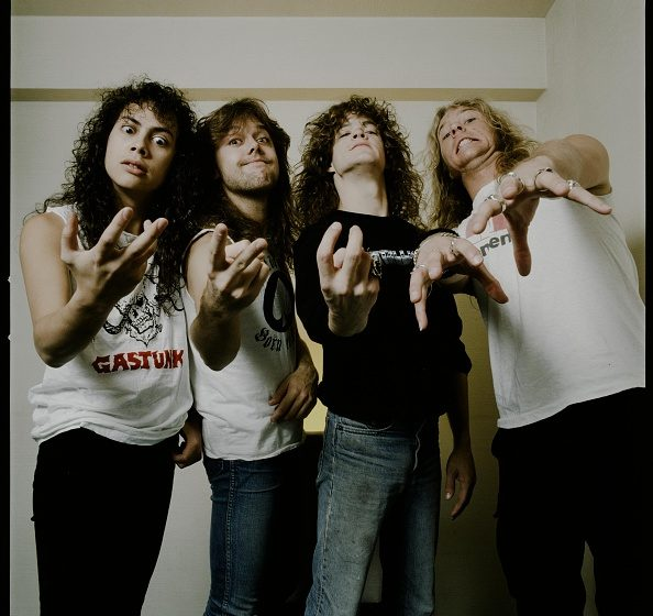 Metallica in photo session at a hotel, Tokyo, November 1986. (Photo by Koh Hasebe/Shinko Music/Getty Images)