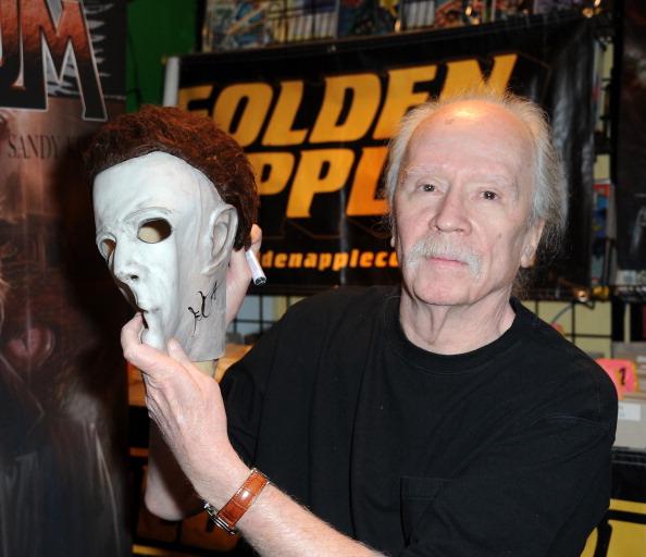 LOS ANGELES, CA - OCTOBER 27:  Director John Carpenter sign copies of his first comic book 'Asylum' held at Golden Apple Comi