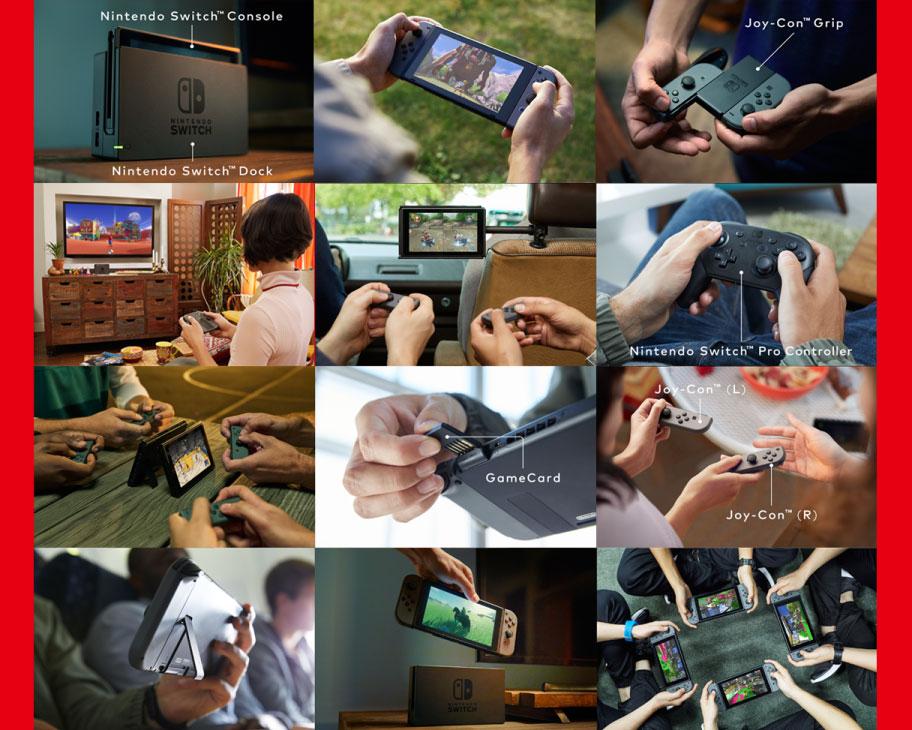 Die verschiedenen Einsatzmöglichkeiten von Nintendo Switch.