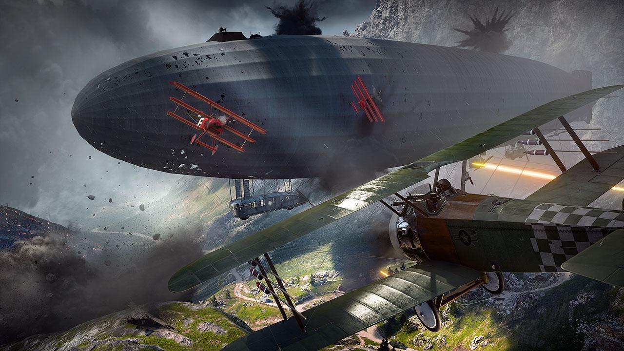 In Battlefield 1 werden Gefechte auch in der Luft ausgetragen.