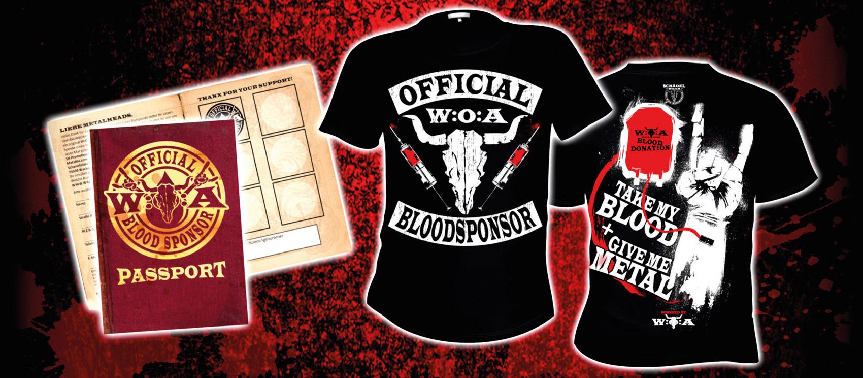 Blutspendepass und T-Shirt