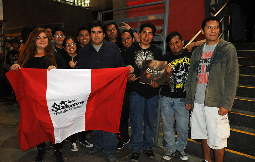 Sabaton in Lima, Peru