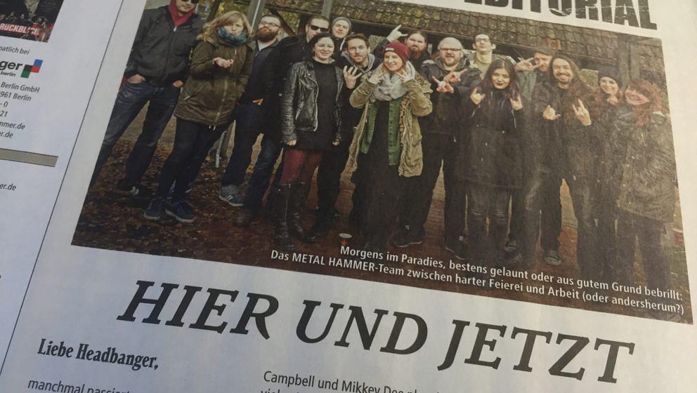Editorial der METAL HAMMER-Ausgabe 01/2017