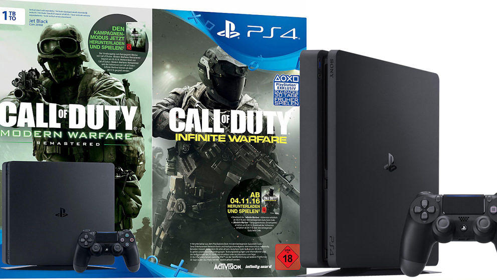 Tag 24: Playstation 4 Slim + Call Of Duty: Infinite Warfare