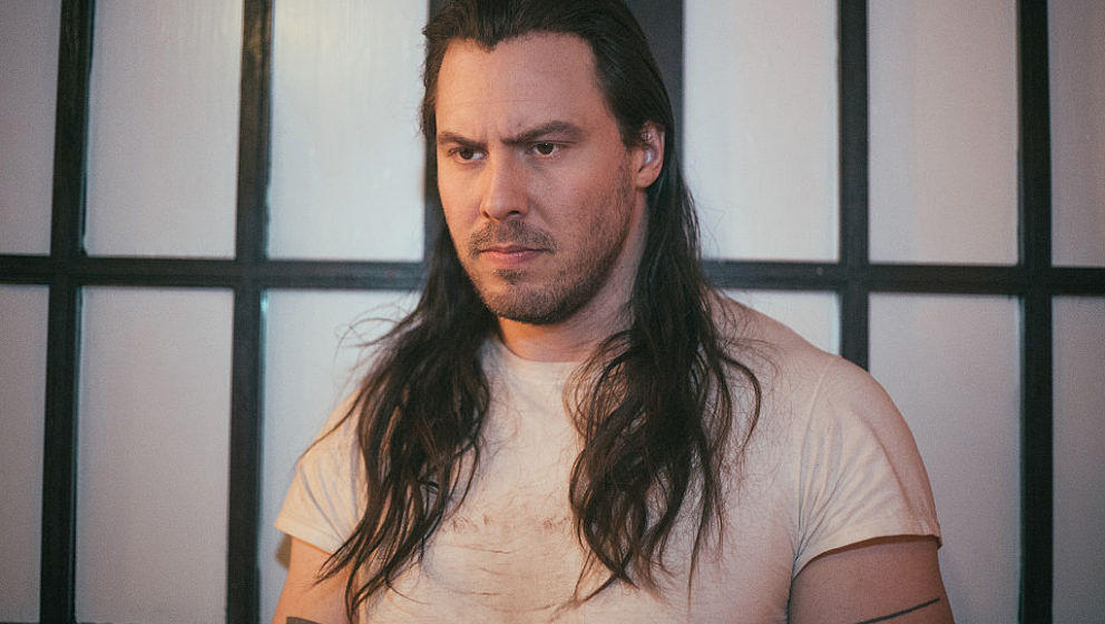 BIRMINGHAM, AL - NOVEMBER 04:  Andrew W.K. poses backstage at Saturn Birmingham on November 4, 2016 in Birmingham, Alabama.