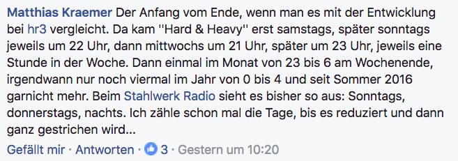Radio Fritz will Metal-Sendung auf Mitternacht verschieben