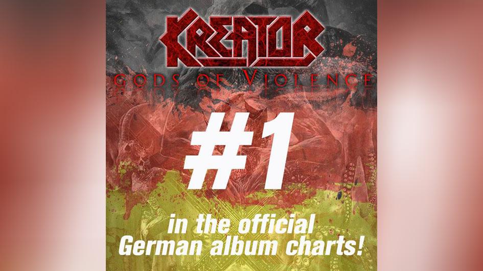 Platz 1 in den Album-Charts für GODS OF VIOLENCE!