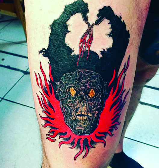 Tattoos von Dustin Boltjes (Skeletonwitch)
