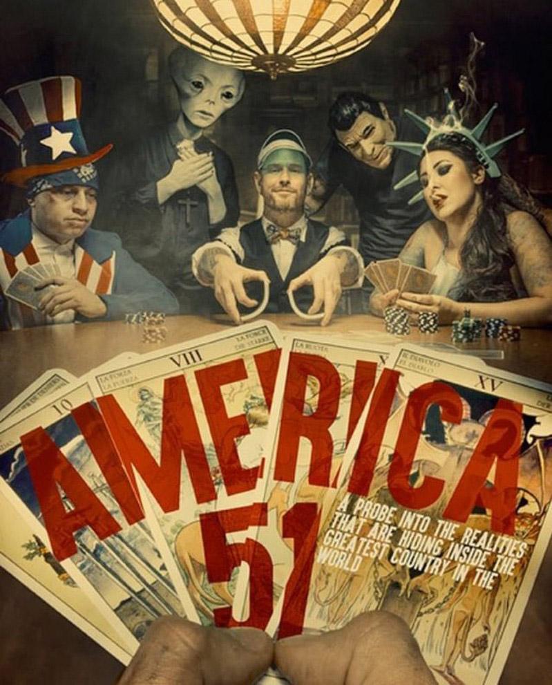 """Buchcover von """"America 51"""""""