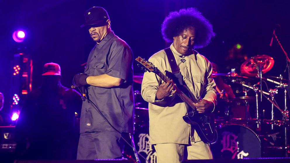 Ernie C mit Ice-T bei einem Konzert von Body Count im Jahr 2014