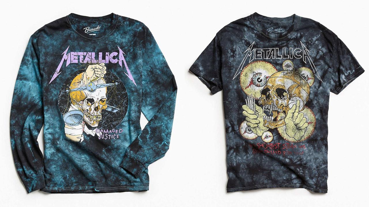 Mit diesen bunten Metallica-Shirts fallt ihr garantiert auf
