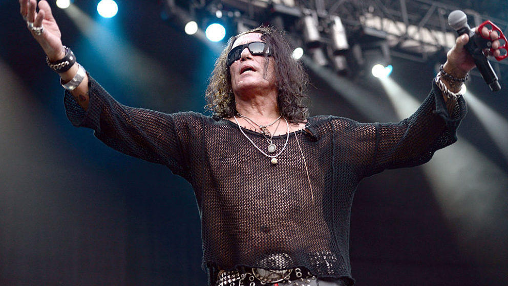 IRVINE, CA - AUGUST 15:  Singer Stephen Pearcy of RATT performs onstage at the Cathouse Festival at Irvine Meadows Amphitheat