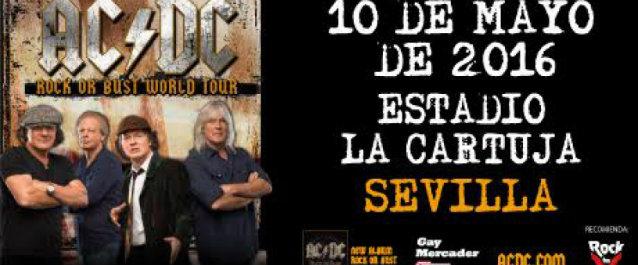 Das Poster zur Sevilla-Show von ACD/DC am 10. Mai 2015.