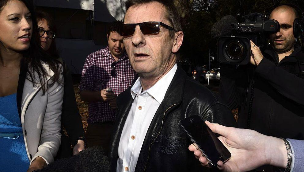 Former AC/DC drummer Phil Rudd leaves the District Court where he was recalled for violating the conditions on his sentence o