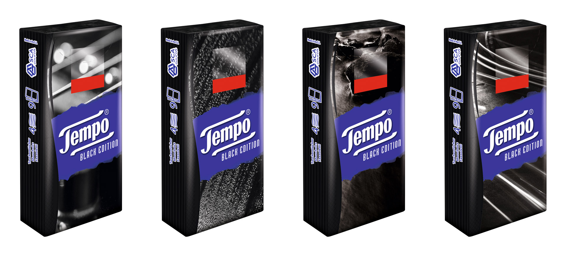 Tempo Black Edition in verschiedenen Designs