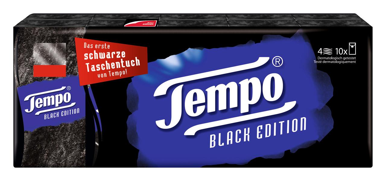 Jetzt schon Kult und garantiert streng limitiert: Das erste schwarze Taschentuch von Tempo – Tempo Black Edition