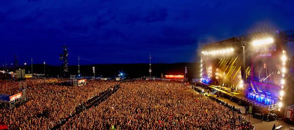 Die Hauptbühne des Musikfestivals Rock am Ring, aufgenommen am 03.06.2017 in Nürburg (Rheinland-Pfalz). Am Vorabend war das