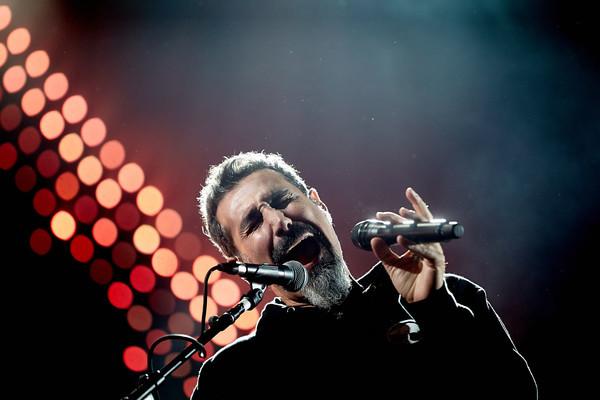 Sänger Serj Tankian tritt am 04.06.2017 beim Musikfestival 'Rock am Ring' in Nürburg (Rheinland-Pfalz) mit der US-amerikani