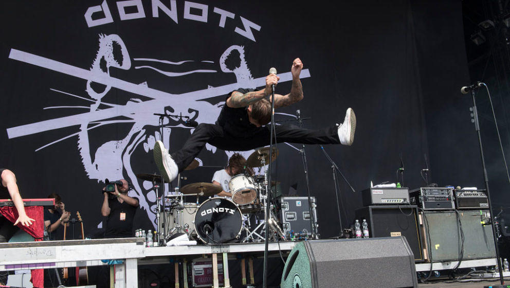 NUERBURG, GERMANY - JUNE 03: Ingo Knollmann of the Donots performs on stage during the second day of 'Rock am Ring' on June 3