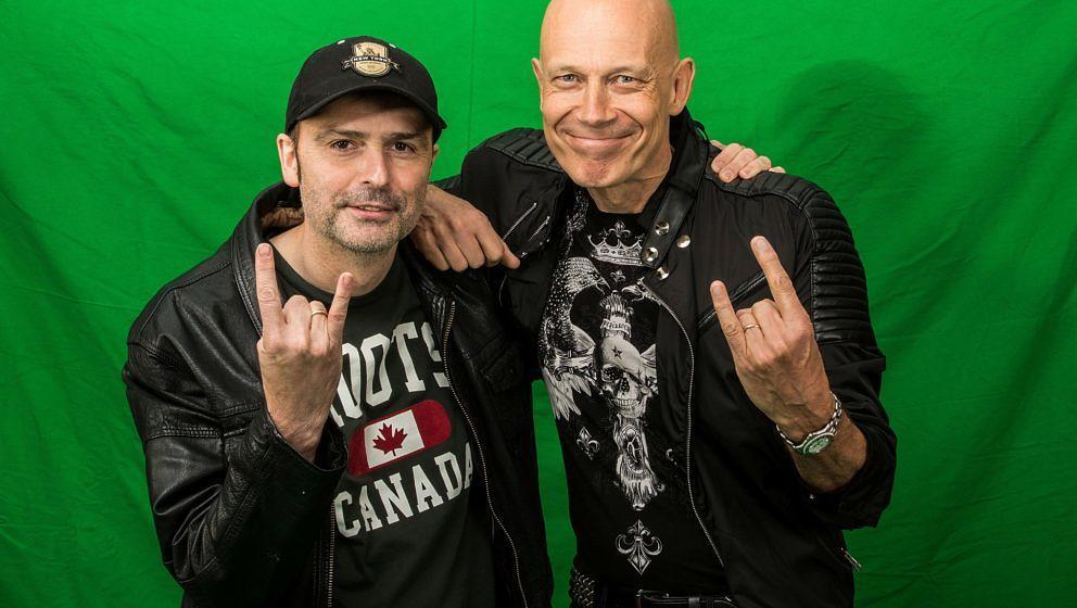 Hansi Kürsch und Wolf Hoffmann beim gemeinsamen METAL HAMMER-Interview