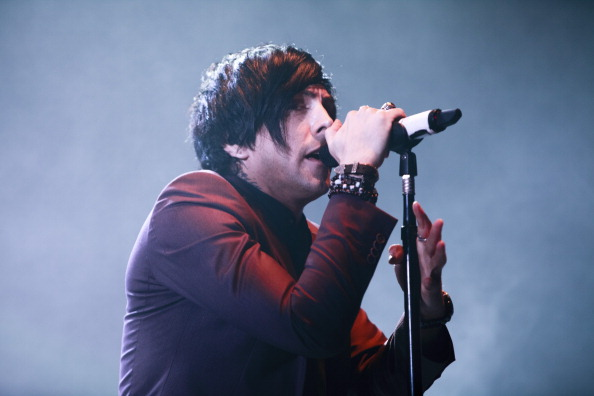 MANCHESTER, UNITED KINGDOM - NOVEMBER 08: Ian Watkins of Lostprophets performs at Manchester Apollo on November 8, 2012 in Ma