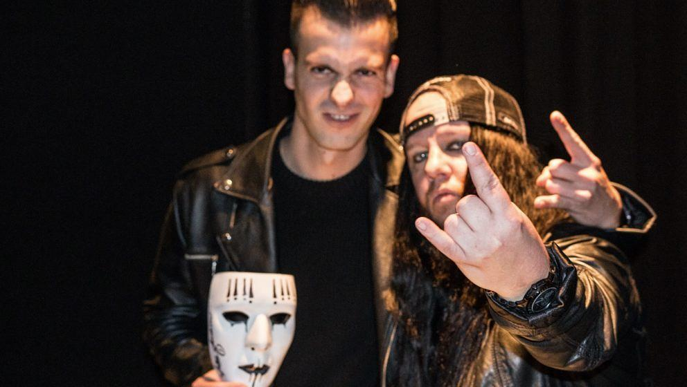 Joey Jordison/Vimic beim METAL HAMMER-Talk in The Venue Berlin