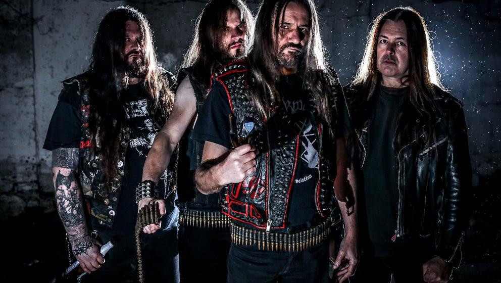 Sodom 2018: Husky, Yorck Segatz, Tom Angelripper, Frank Blackfire (v.l.n.r.)