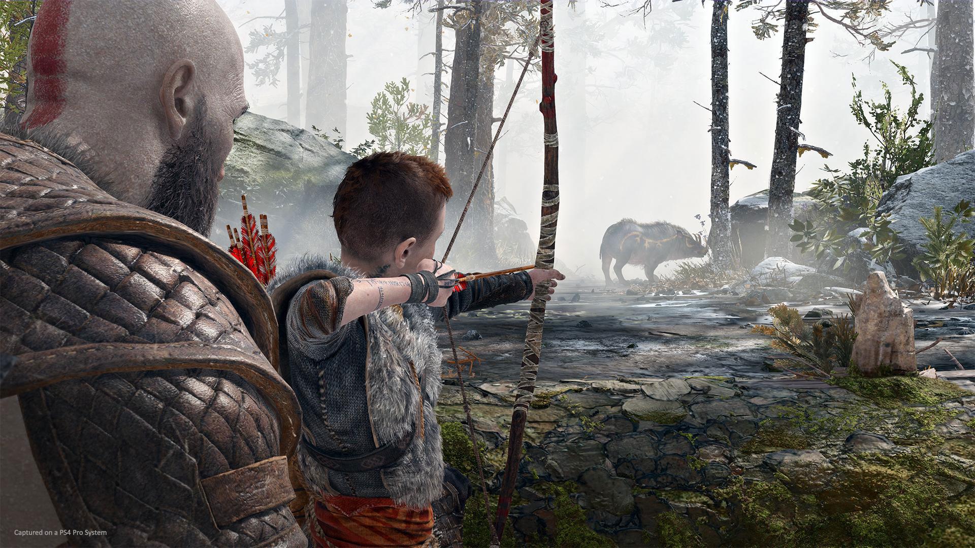Kratos mit seinem Sohn Atreus