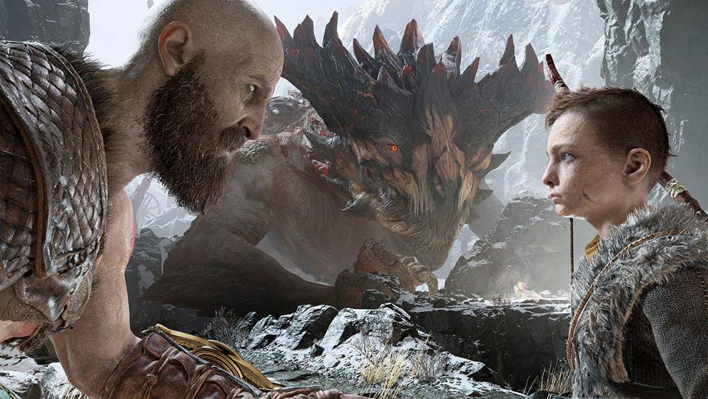 Kratos und sein Sohn Atreus