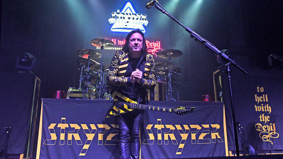 LOUISVILLE, KY - NOVEMBER 06:  Michael Sweet of Stryper performs at Mercury Ballroom on November 6, 2016 in Louisville, Kentu