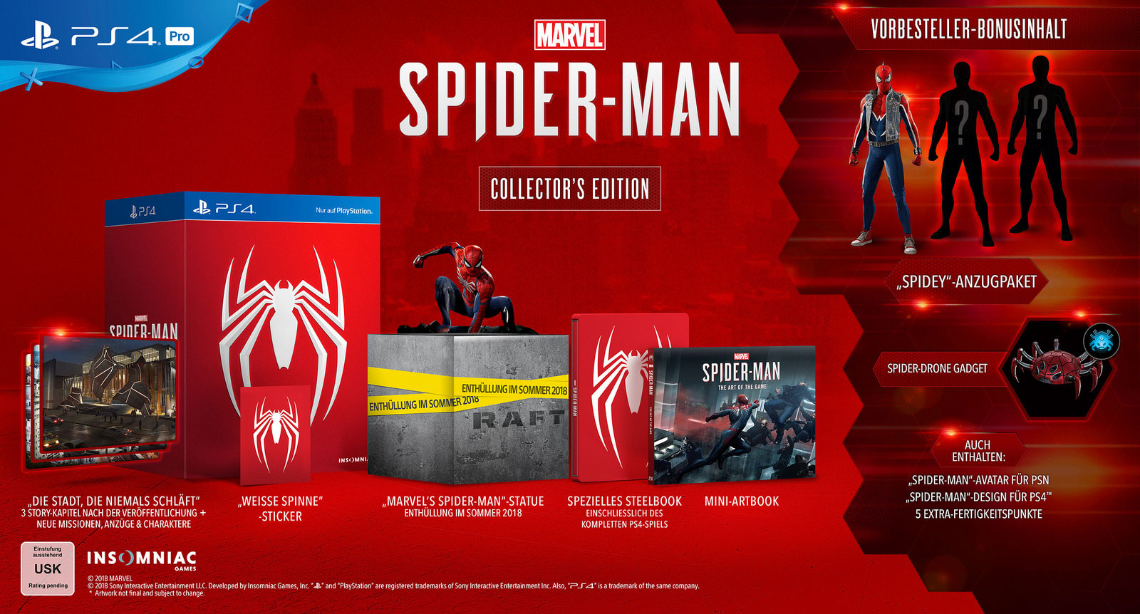 """Die Collector's Edition von """"Spider-Man"""" für PS4"""