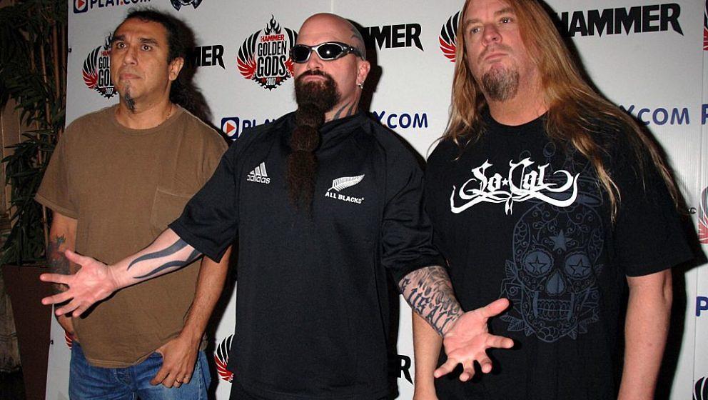 Metal Hammer Golden Gods Awards At Koko, London, Britain - 11 Jun 2007, Slayer: Tom Araya, Kerry King And Jeff Hanneman (Phot