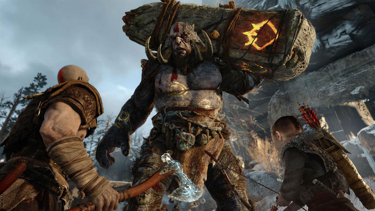 Kratos in seinem Element