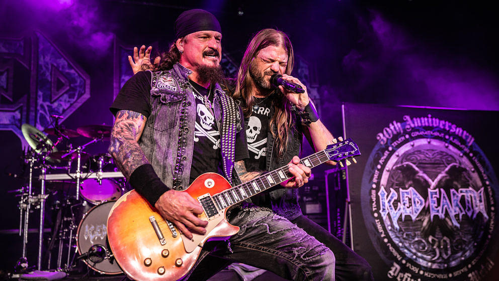 Iced Earth auf der Classic Rock Night in Pyras am 28. Juli 2018