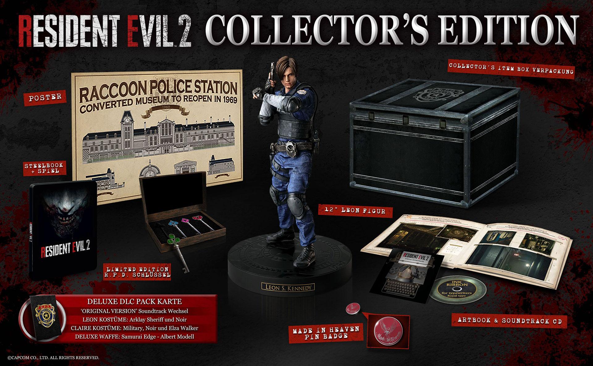 """Die Collector's Edition von """"Resident Evil 2"""""""