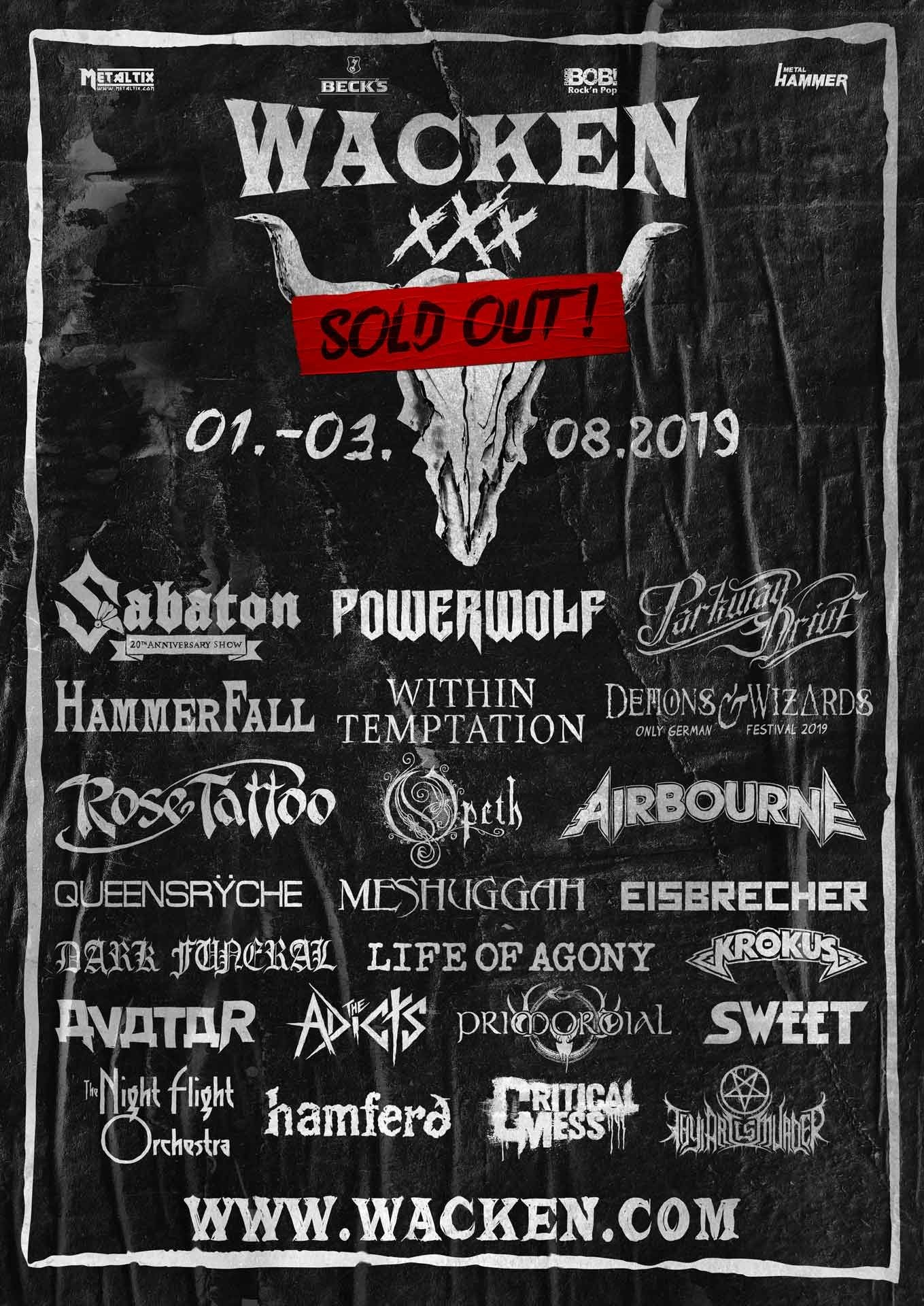 Wacken Open Air 2019 Vorschau Aufs 30 Jubilaum Bands Tickets