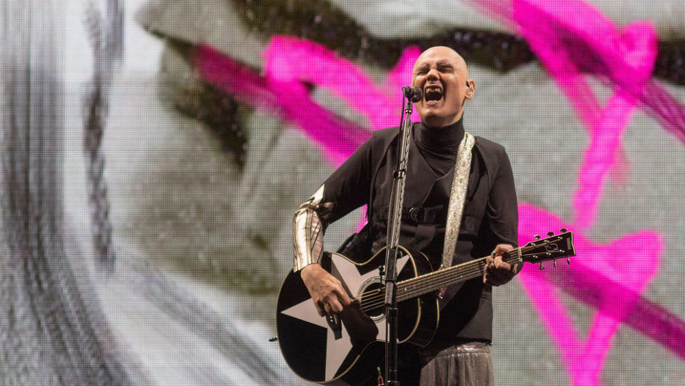 AUSTIN, TX - JULY 16:  Singer-songwriter Billy Corgan of The Smashing Pumpkins performs in concert during the 'Shiny and Oh S