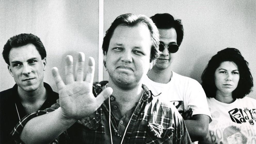 Pixies, Frank Black, Kim Deal, David Lovering, Joey Santiago, Pinkpop Festival, Landgraaf, Holland, 15/05/1989. (Photo by Gie