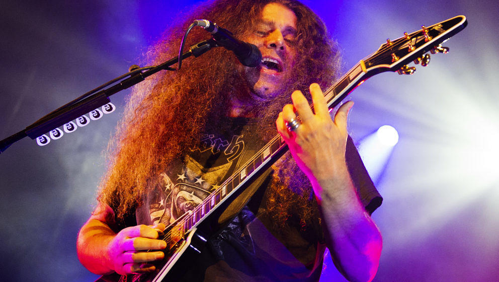 BIRMINGHAM, ENGLAND - OCTOBER 14:  Claudio Sanchez of Coheed and Cambria performs at O2 Academy Birmingham on October 14, 201