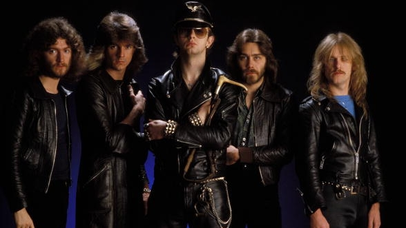 UNITED KINGDOM - OCTOBER 20:  CAMDEN  Photo of Rob HALFORD and Les BINKS and KK DOWNING and JUDAS PRIEST and Ian HILL and Gle